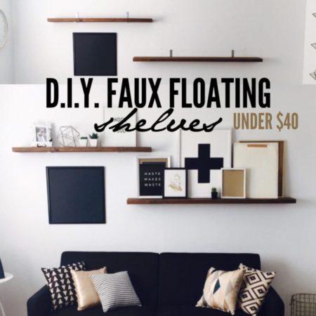 dit faux floating shelves under $40