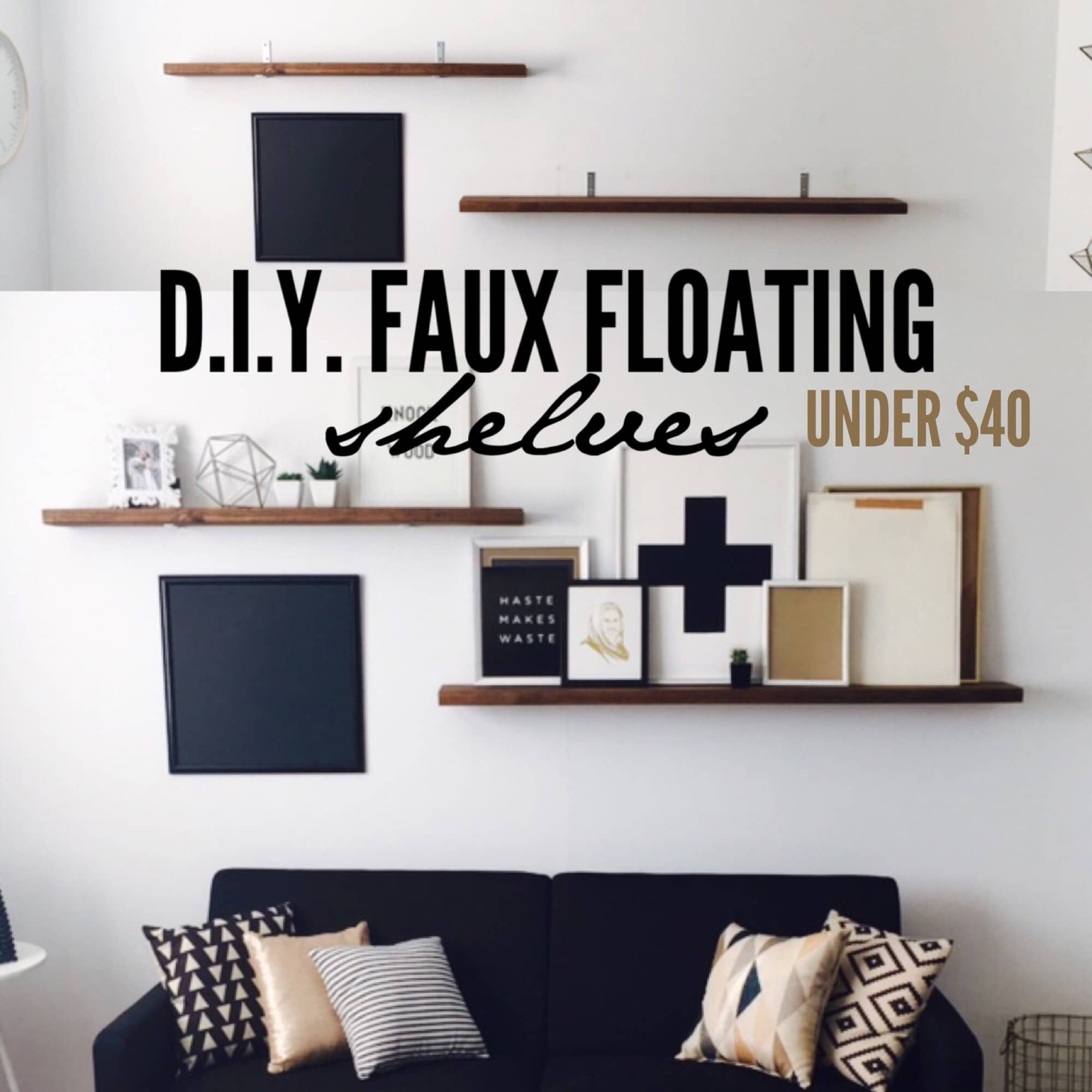 dit faux floating shelves under $40