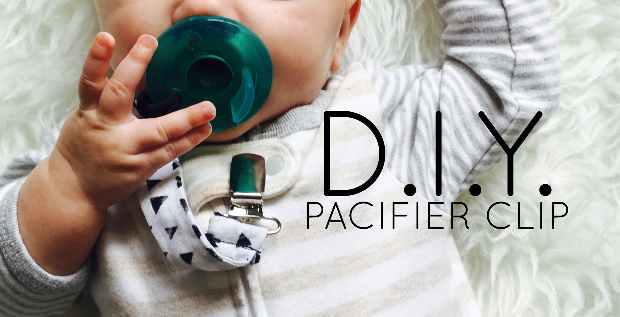 diy pacifier clip pic