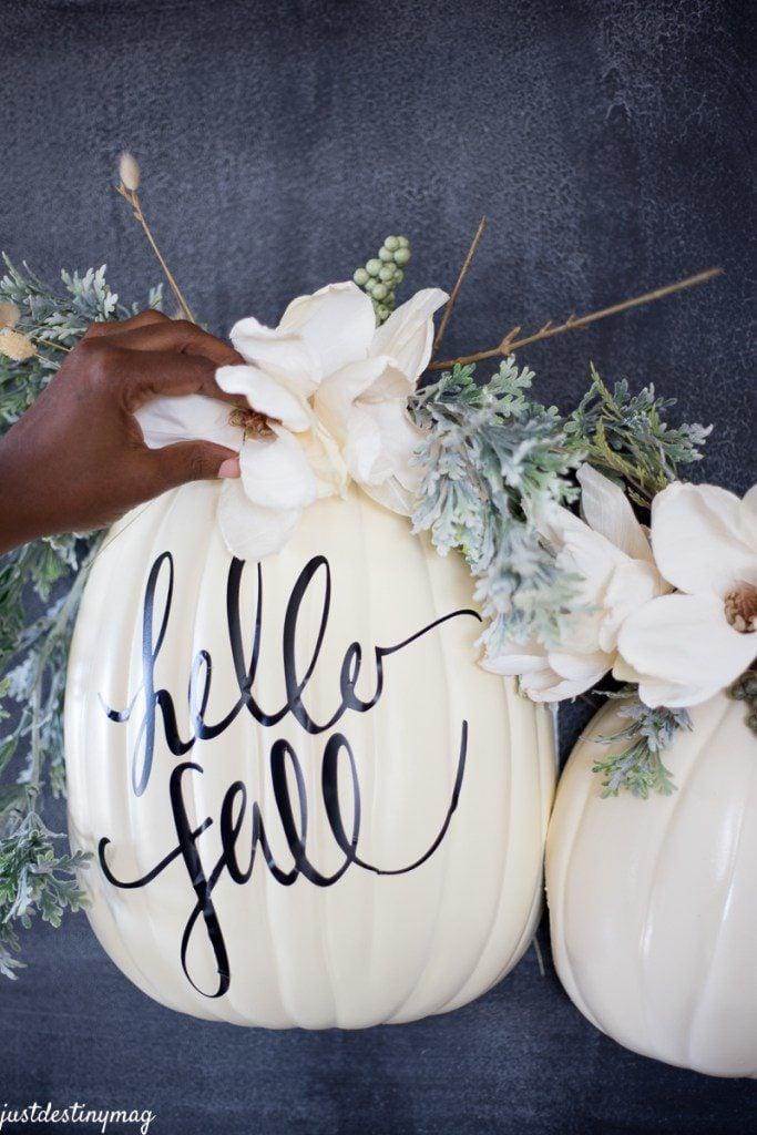 Modern DIY No-Carve Pumpkin Ideas - Life on Waller