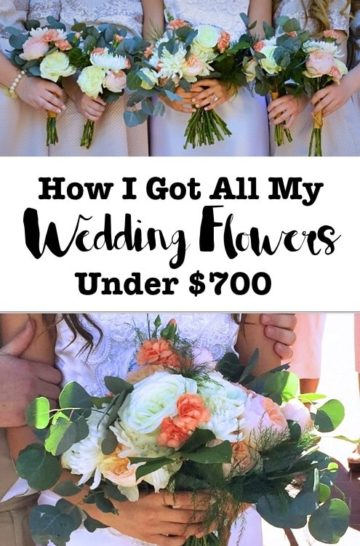 How i got allmy wedding flowers under $700