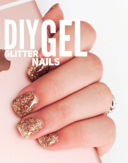 diy glitter gel nails