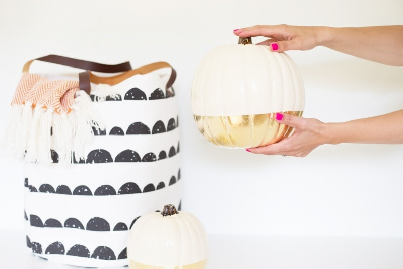 Modern DIY No-Carve Pumpkin Ideas - Life on Waller