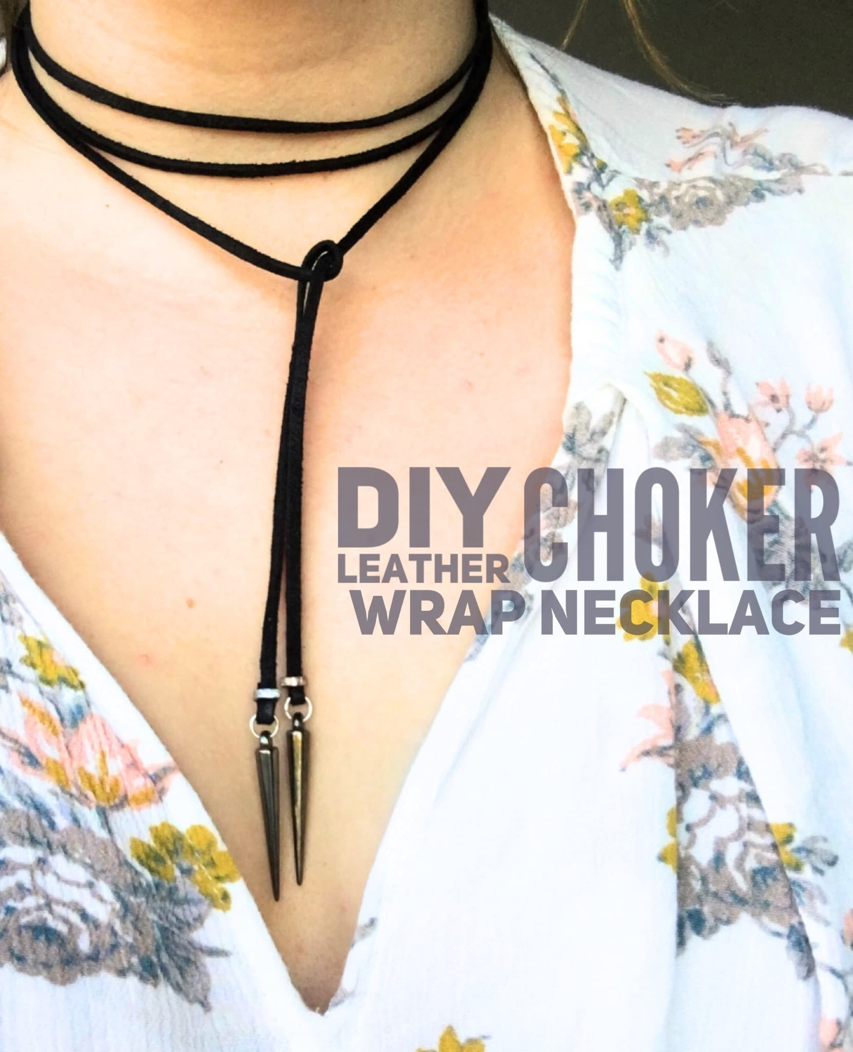 DIY Leather Choker Wrap Necklace