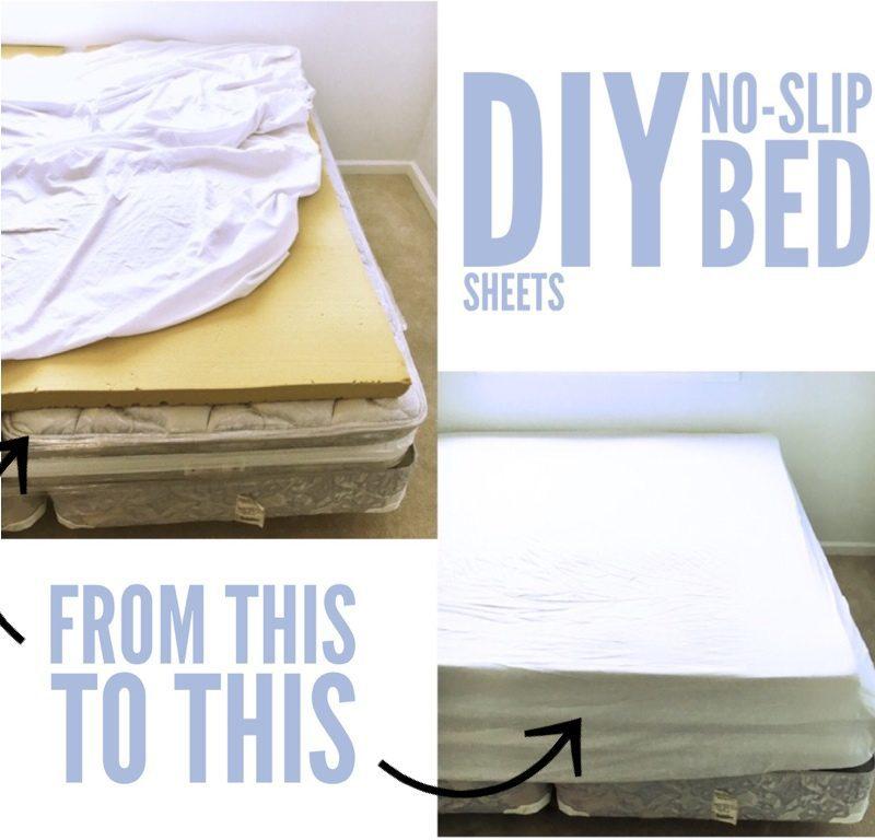 DIY No-Slip Bed Sheets