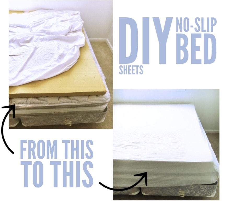 Diy No Slip Bed Sheets Cassie Scroggins