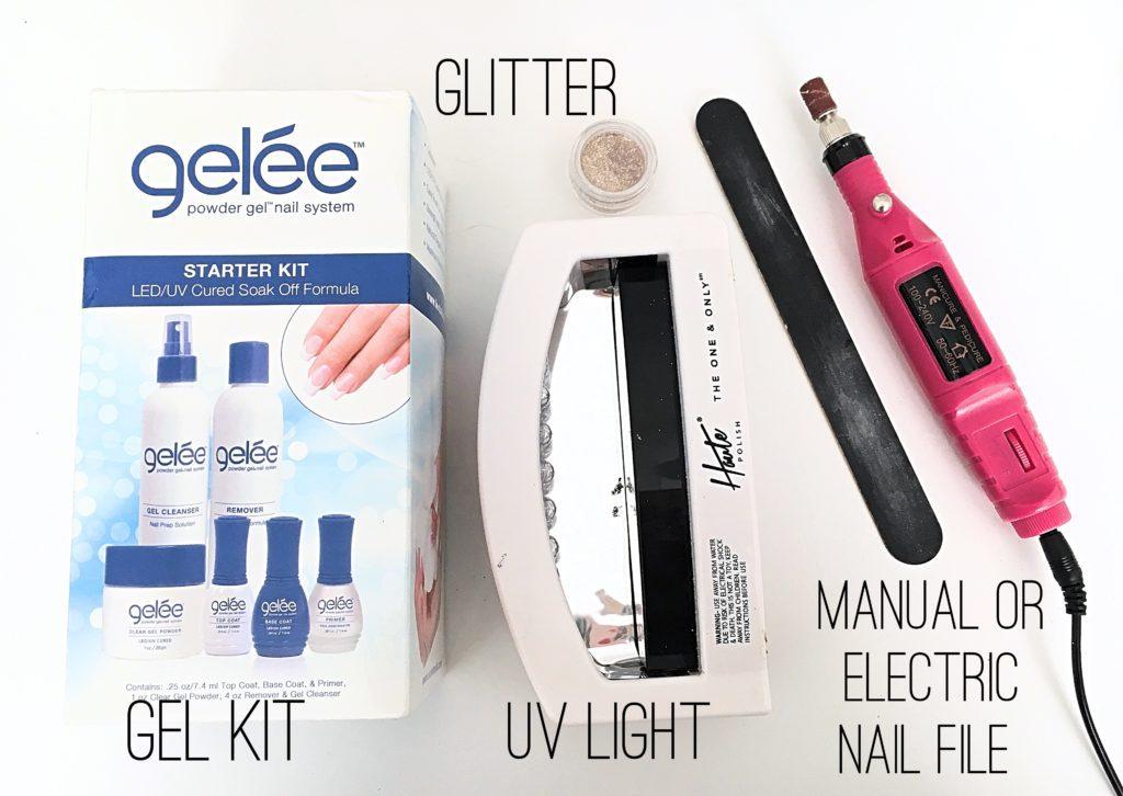 glitter gel supplies