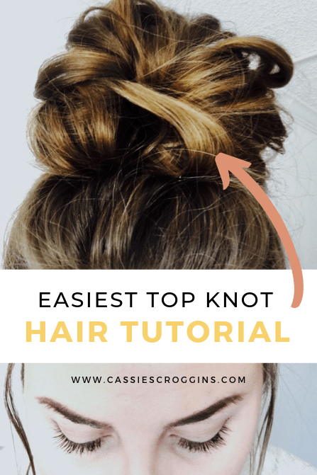 messy top knot bun hairstyle