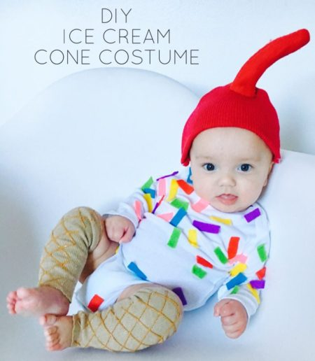DIY Ice Cream Cone Costume - Life on Waller