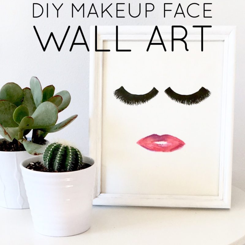 DIY Makeup Face Wall Art