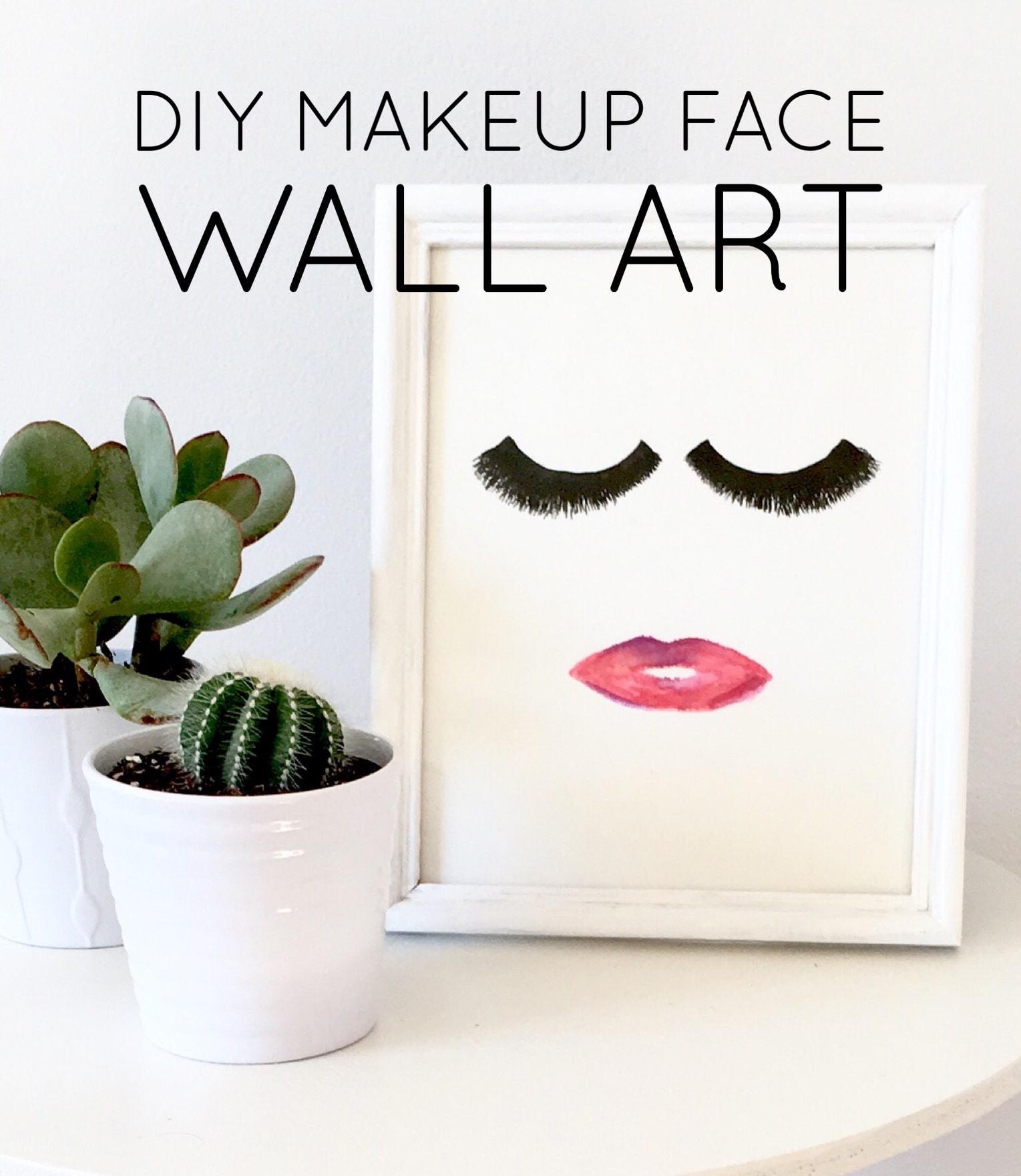 DIY Makeup Face Wall Art