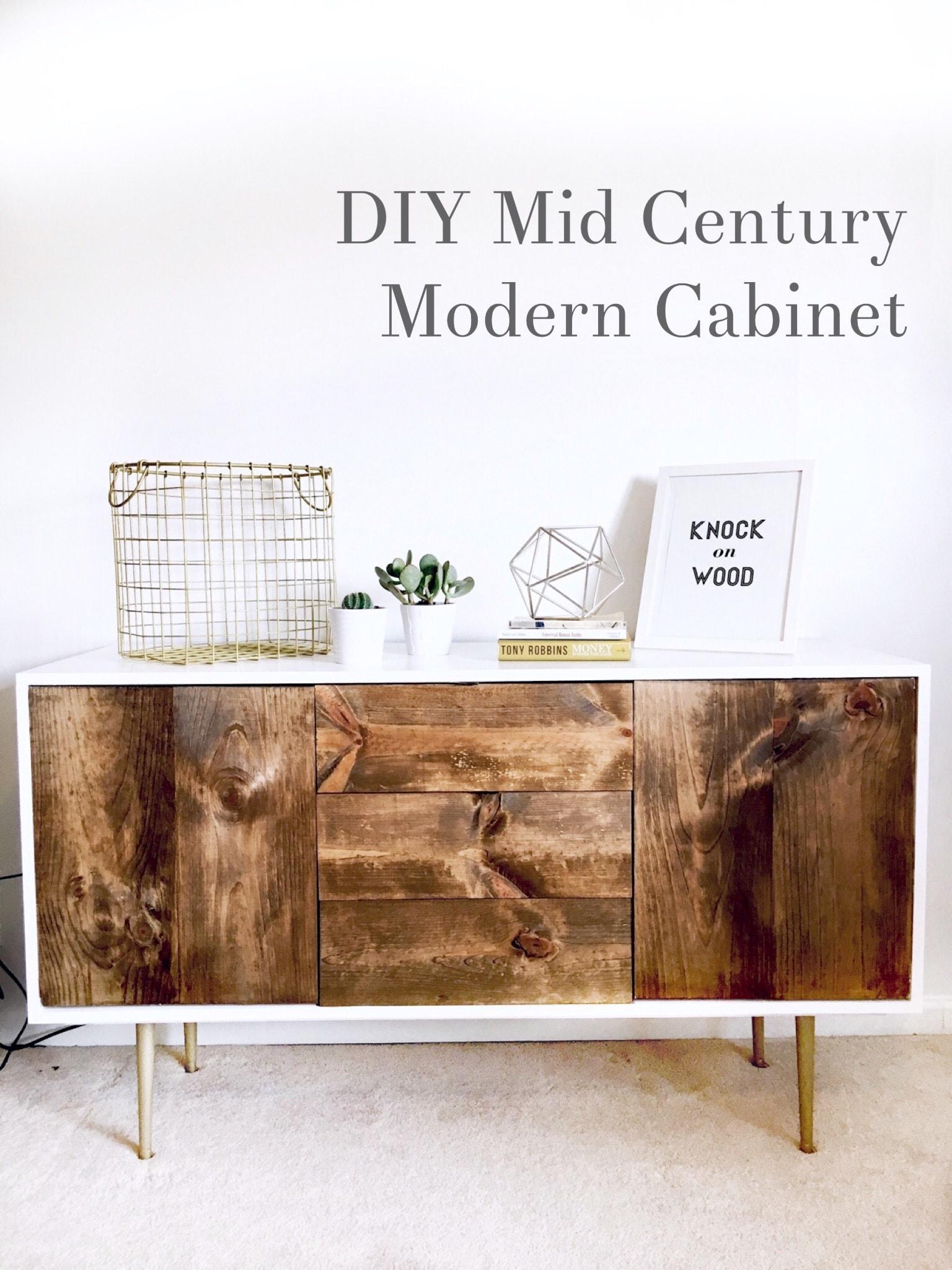 Diy Mid Century Modern Cabinet Cassie