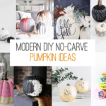 Modern DIY No-Carve Pumpkin Ideas