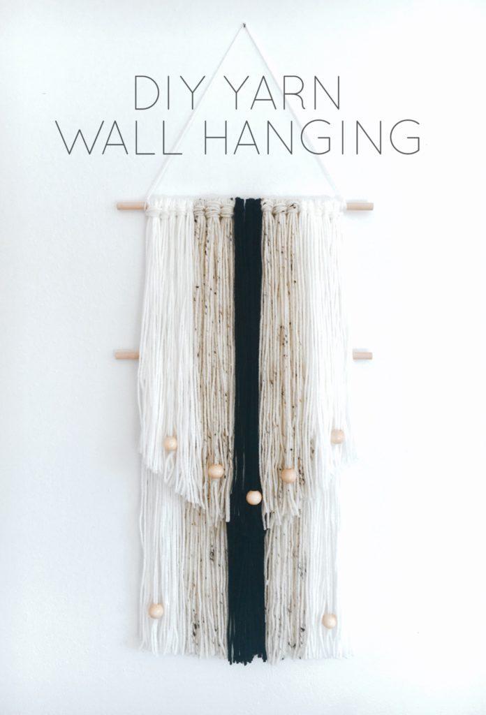 Diy yarn wall hanging life on waller for Yarn wall hanging
