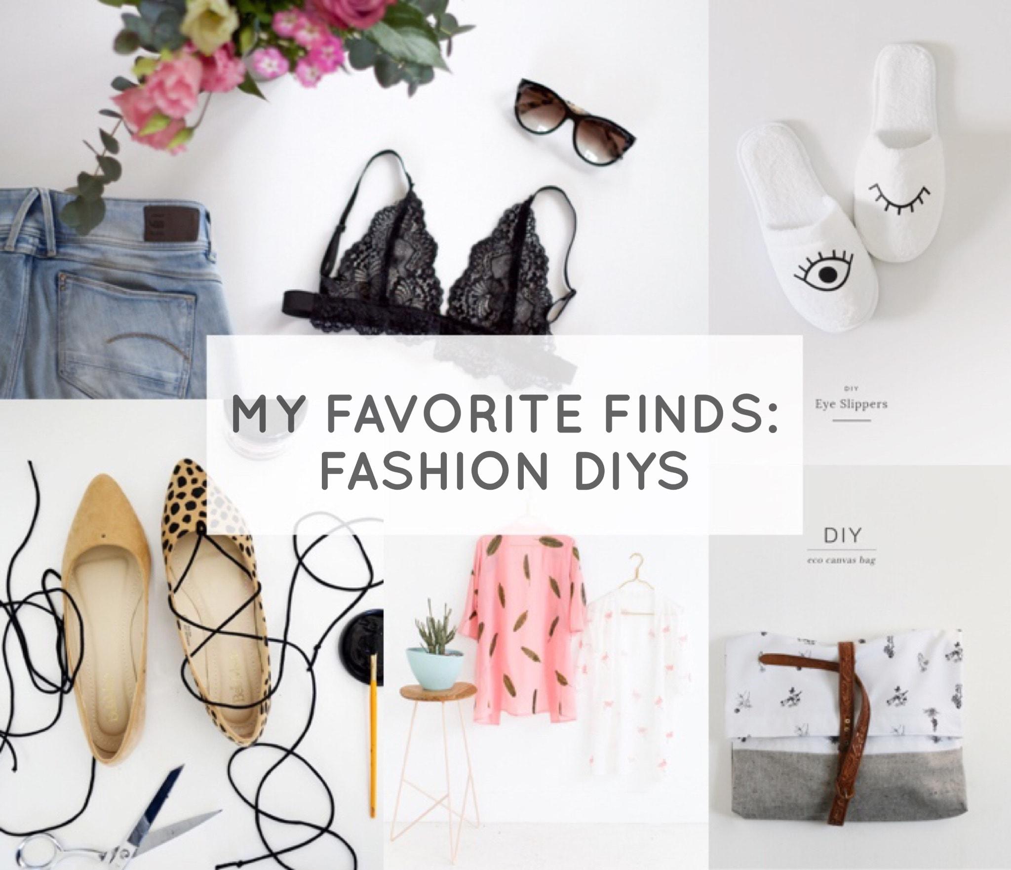 My Favorite Finds: Fashion DIYs