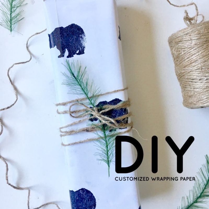 DIY Customized Wrapping Paper