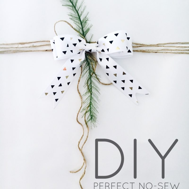 DIY Perfect No-Sew Ribbon Bow
