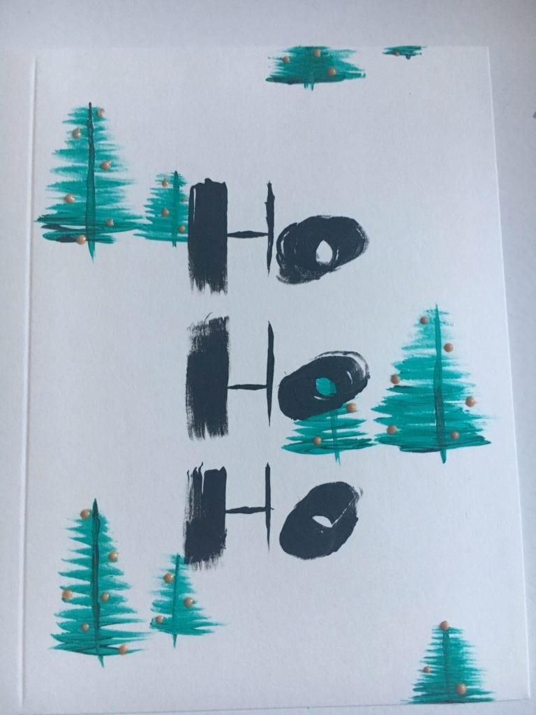 DIY Watercolor & Acrylic Christmas Cards - Cassie Scroggins