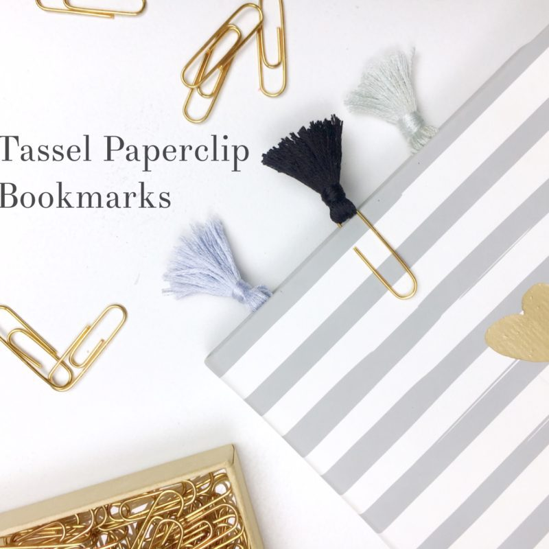 DIY Tassel Paperclip Bookmarks