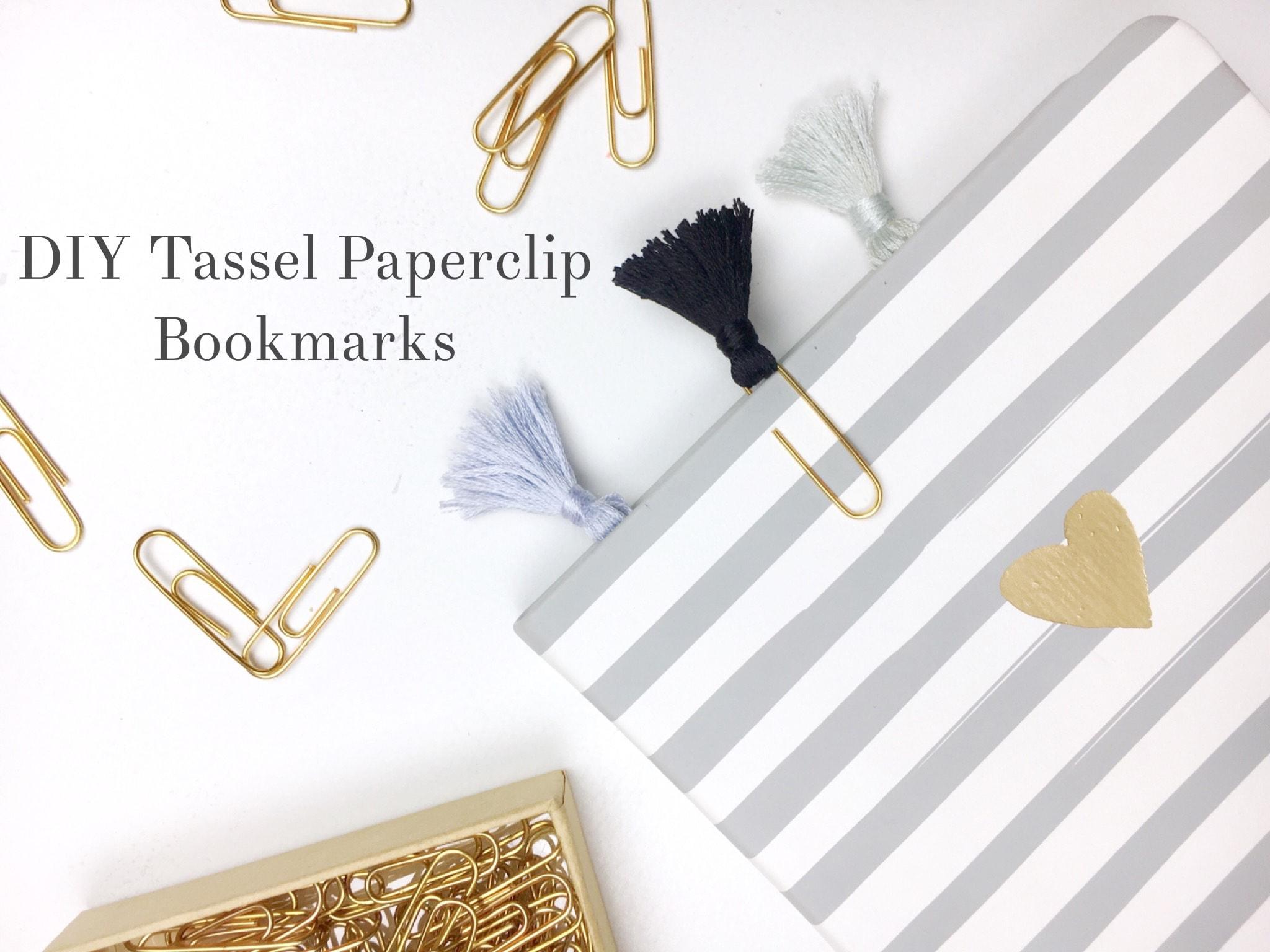 DIY Tassel Paperclip Bookmarks