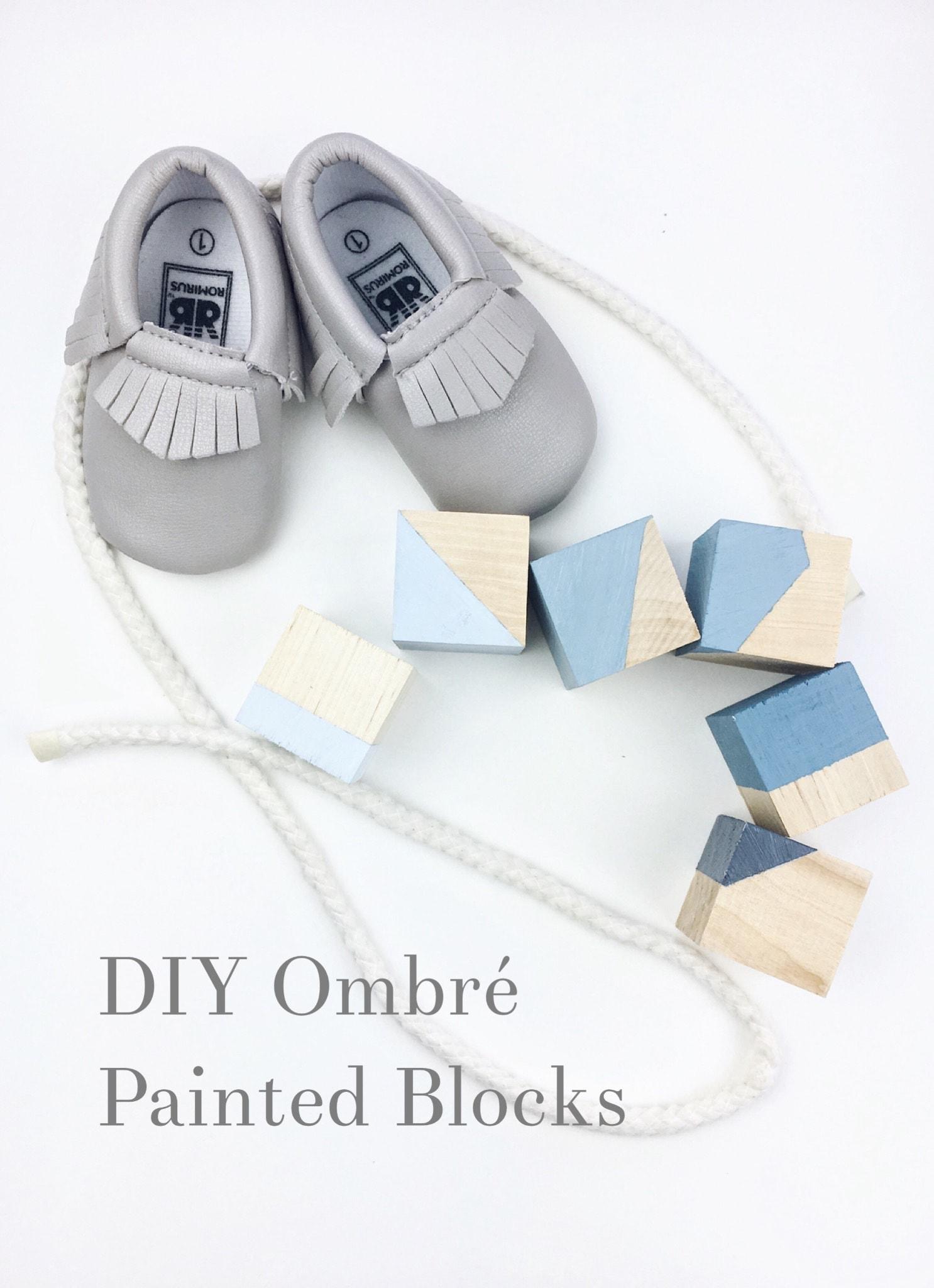 DIY Ombré Painted Blocks