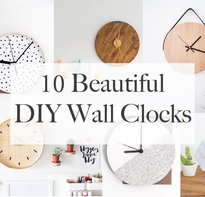 10 Beautiful DIY Wall Clocks