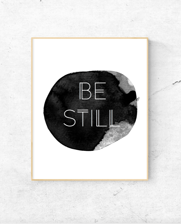 Be Still Watercolor Wall Art