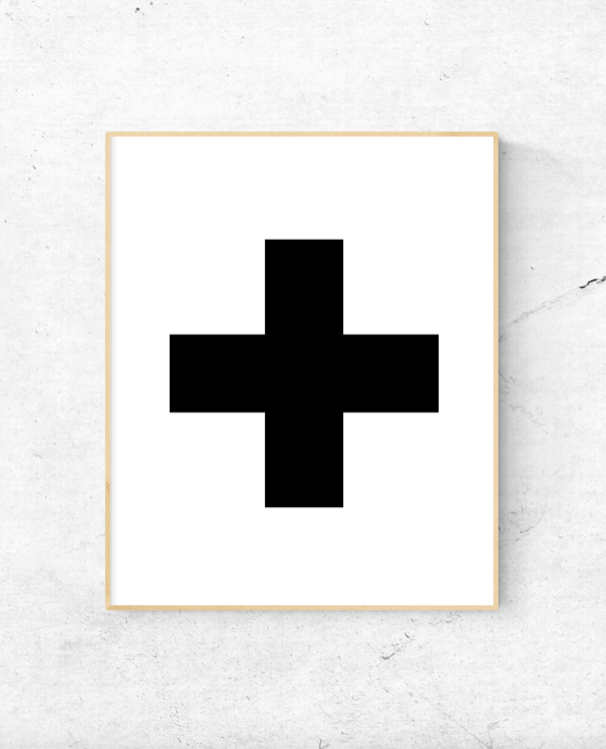 Black Cross wall art