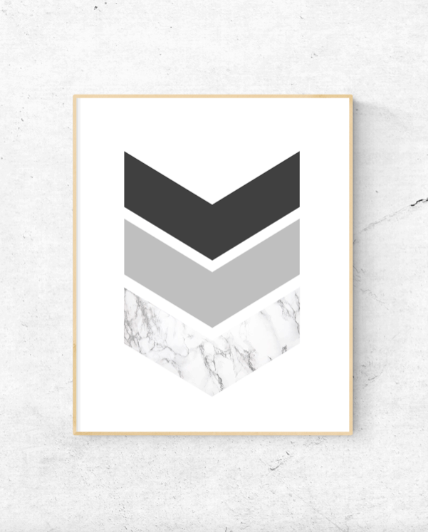 Chevron arrows geometric wall art