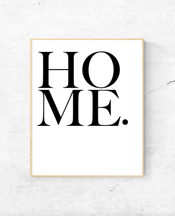 home wall art text
