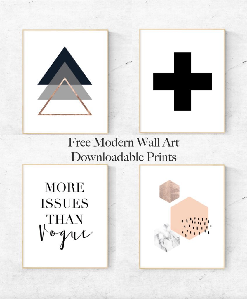 free modern wall art downloadable prints - cassie scroggins