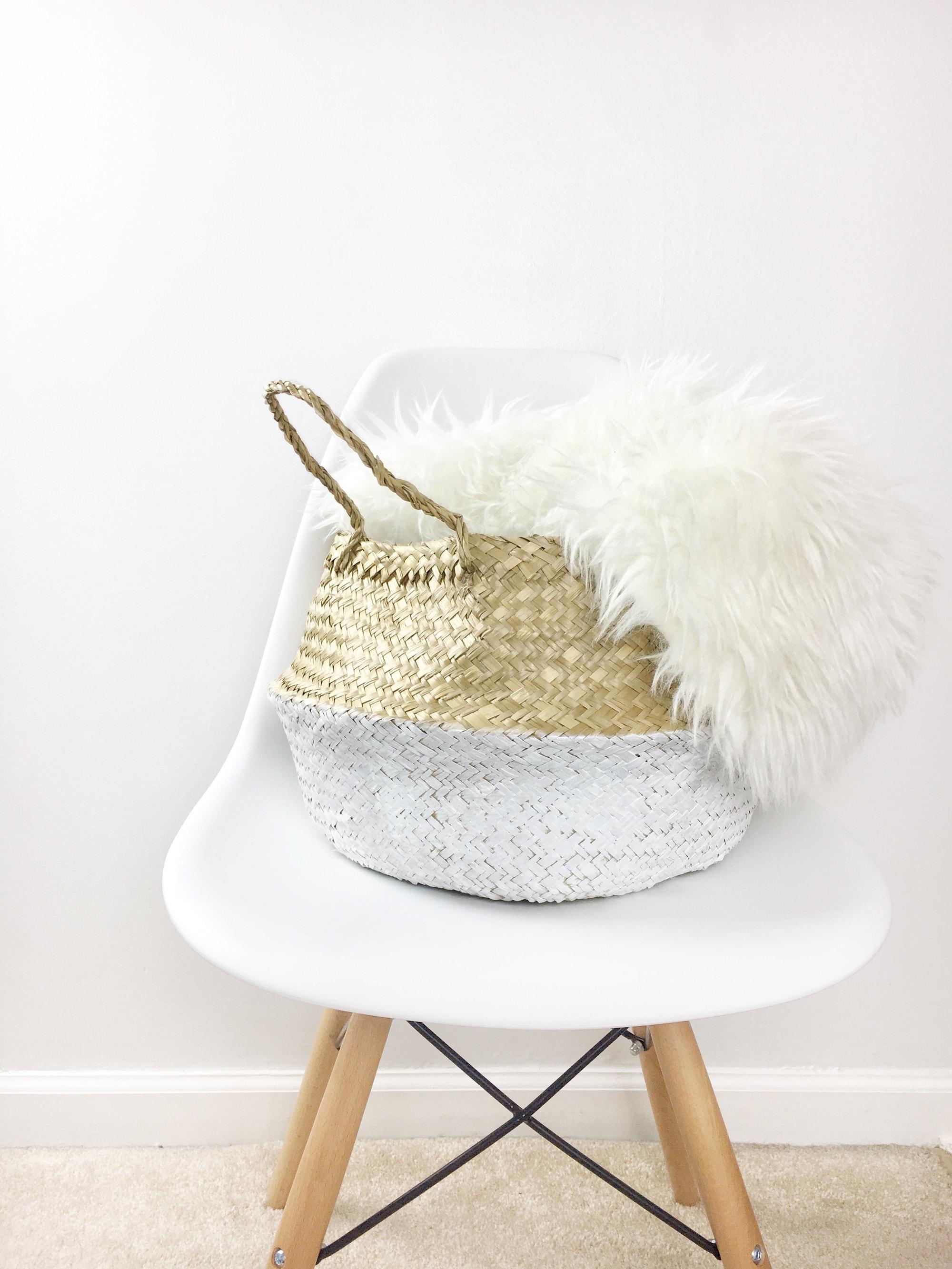 diy white dipped basket