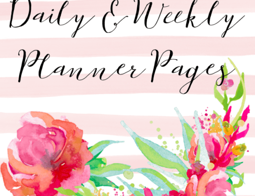 Free Printable Floral Daily & Weekly Planner Pages