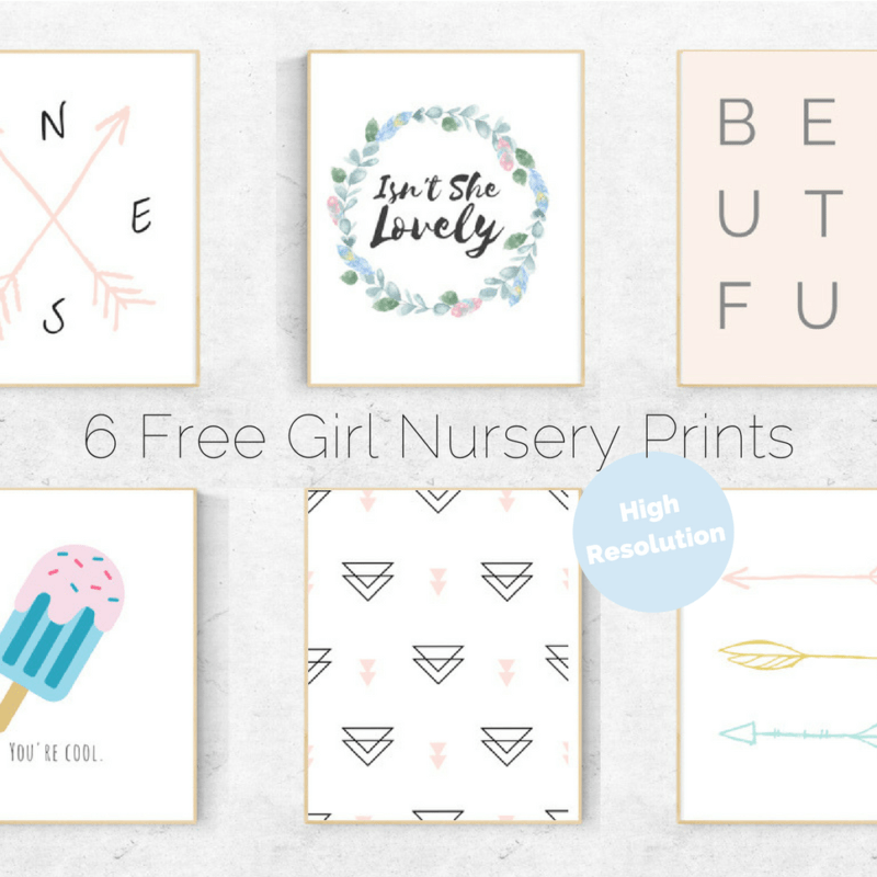 6 Free Girl's Nursery Prints