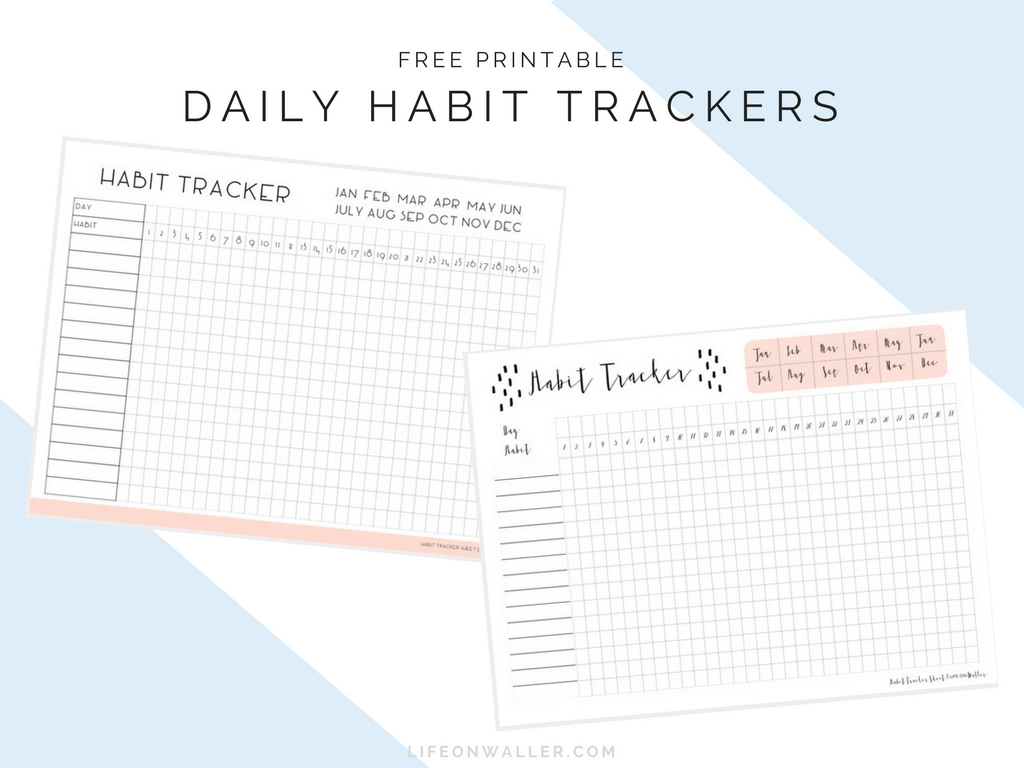 Declarative image with habit tracker free printable