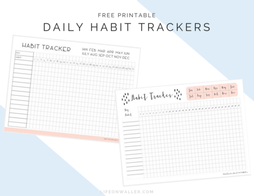 Daily Habit Tracker Free Printables