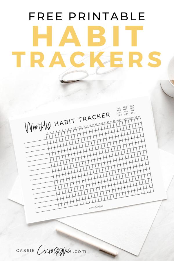 Daily Habit Tracker Free Printables Cassie Scroggins
