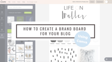 how to create a brand board for your blog