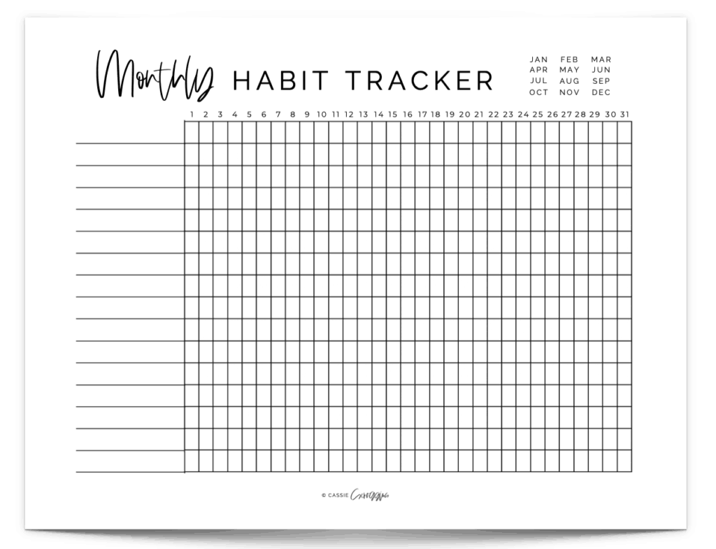 30 day habit tracker