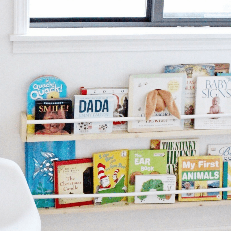 Make 2 Display Style Nursery Bookshelves for $15