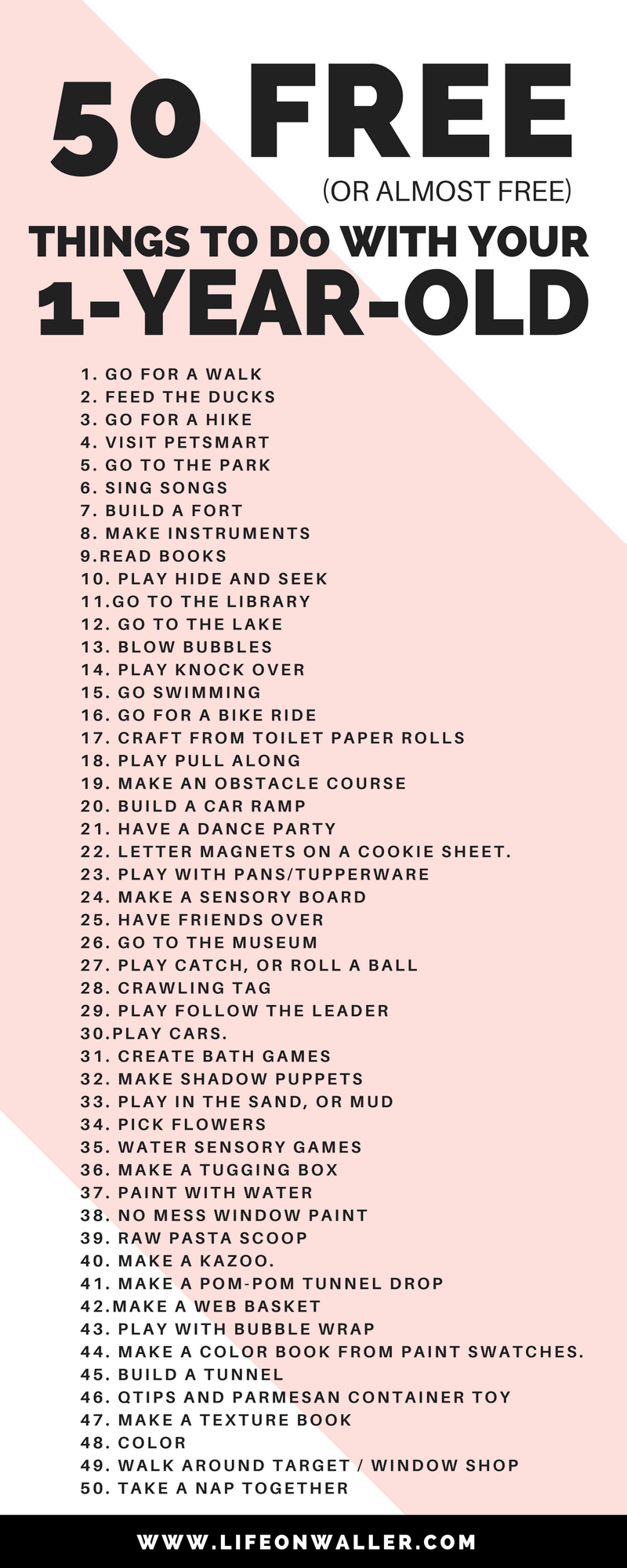 50 free things to do with your 1 year old life on waller for How to make new things from old things