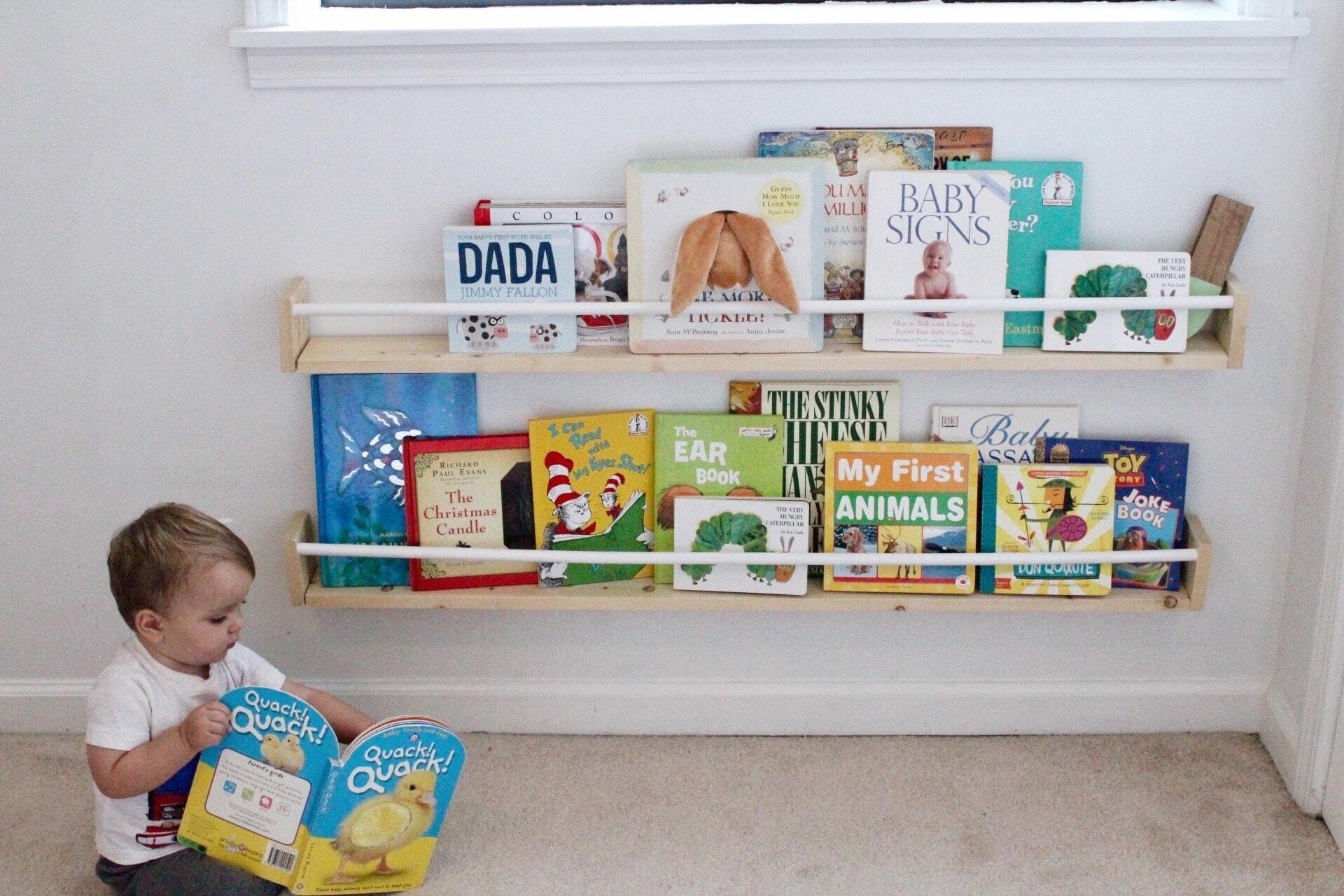 Make 2 Display Style Nursery Bookshelves For 15 Life On