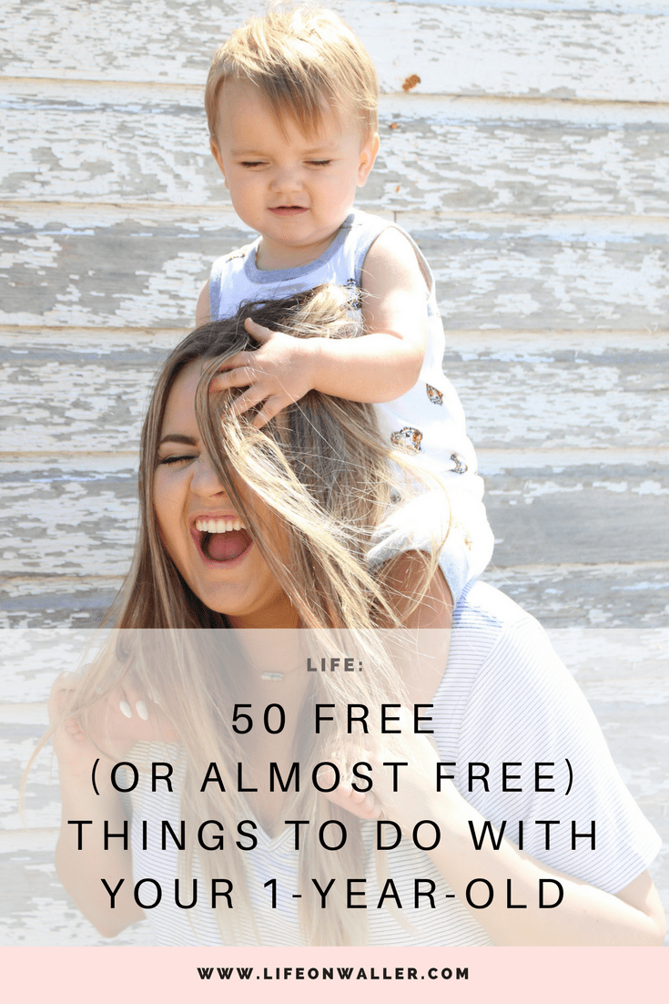 50 Free things to do with your 1 year old