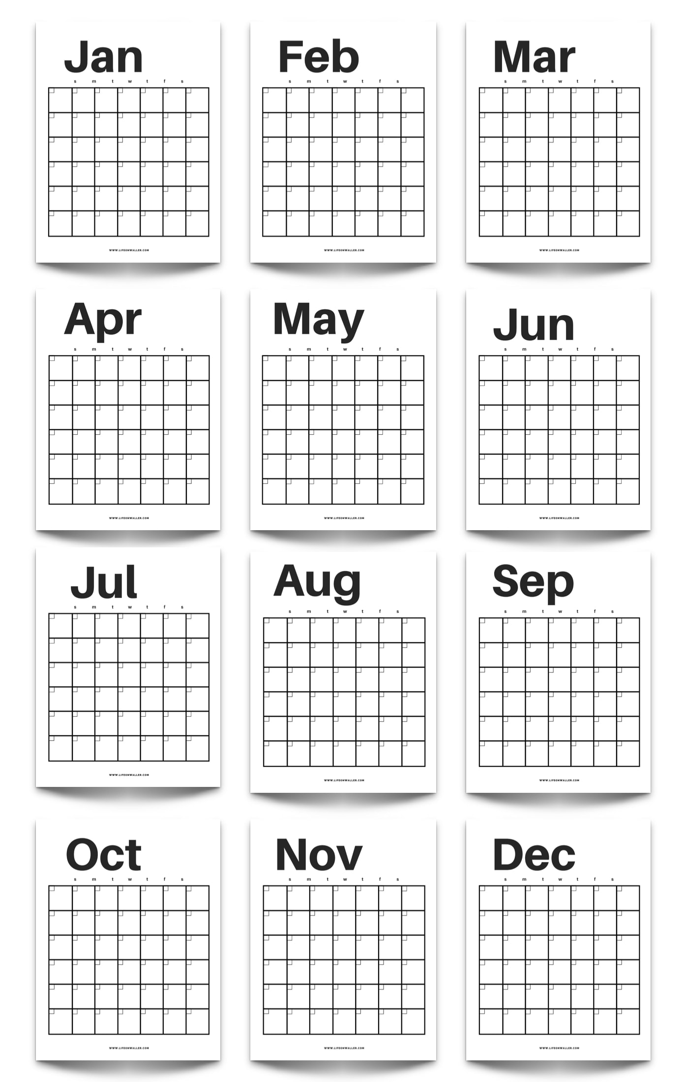 image about Printable Year Calendar titled No cost Printable Innovative Minimalist Fill inside Calendar - Hire For