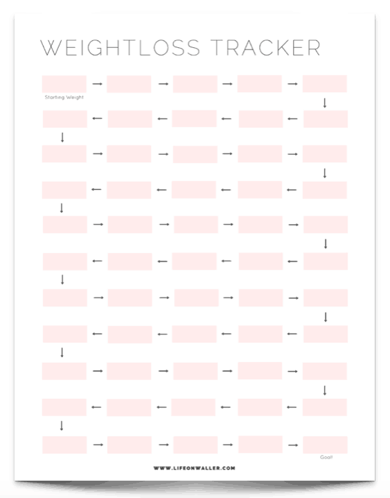 graphic regarding Free Printable Weight Loss Planner called Absolutely free Printable Exercise Tracker - Cie Scroggins