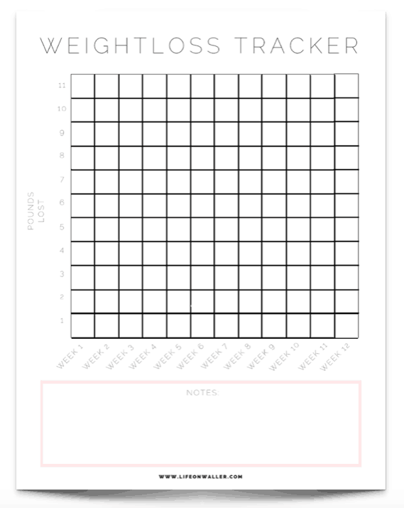photograph relating to Free Printable Weight Loss Tracker identify Totally free Printable Conditioning Tracker - Cie Scroggins