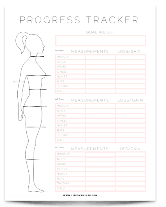 picture about Fitness Tracker Printable called No cost Printable Exercise Tracker - Cie Scroggins