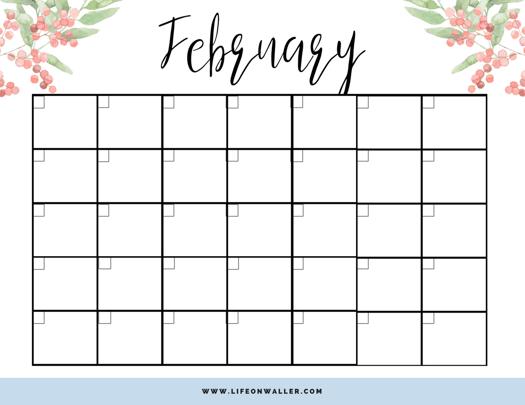 image regarding Printable Fill Ins identified as Totally free Printable Fill-inside Floral Calendar - Cie Scroggins
