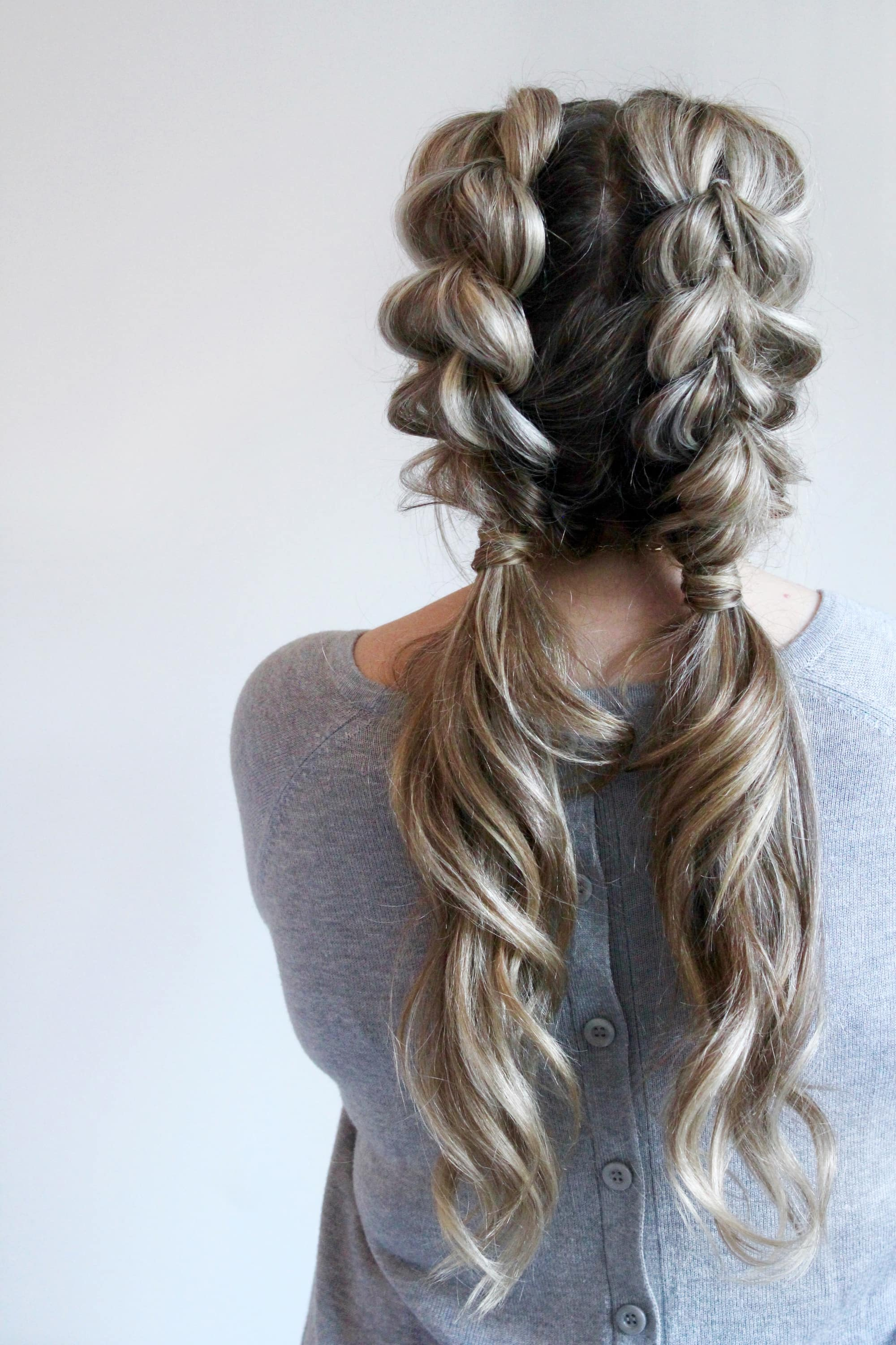 pull through braid ponytails