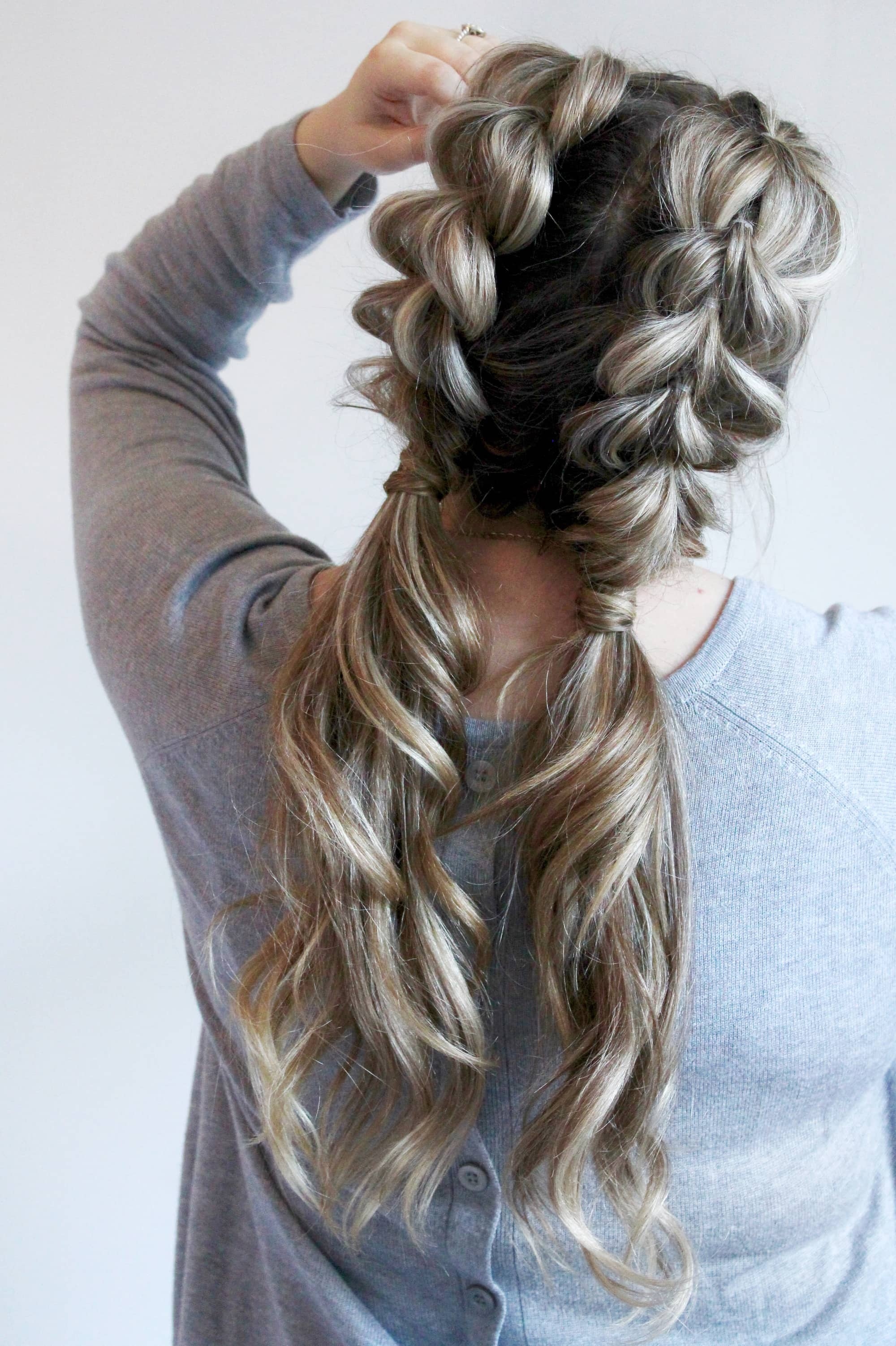 Jumbo Pull Through Braid Pigtails Tutorial Life On Waller